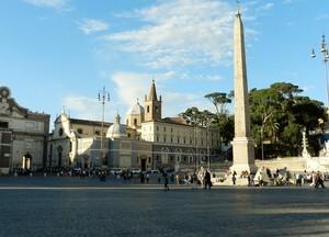 Piazza del Popolo in un giorno qualunque