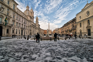 Neve a Piazza Navona