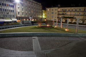Aiuola in piazza