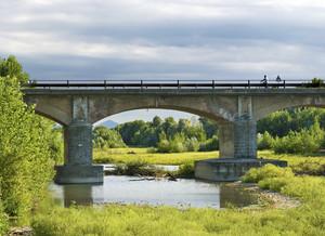 Pedalando sul ponte