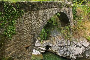 Il ponte che sale al Parco degli Arbo