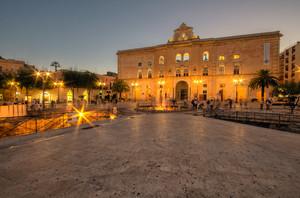 blue hour in Matera
