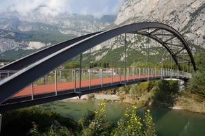 Ponte ciclopedonale sul fiume Sarca