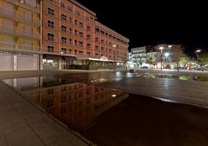 Piazza Mazzini di notte