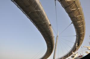 il ponte di Pescara visto da sotto