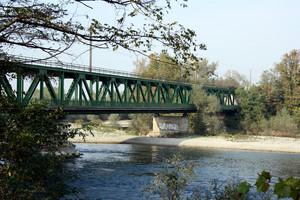 Ponte ferro-stradale sul fiume Ticino