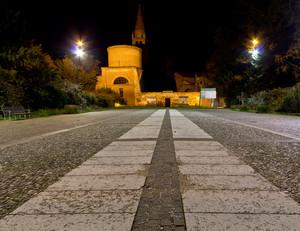 La piazza dell'abbazia