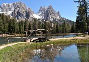 Un piccolo ponte nel lago