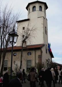 Visita in gruppo all'interno della torre