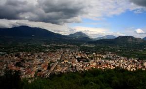 Veduta di Cassino dall'alto dell'Abbazia di Montecassino…
