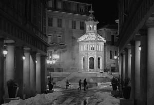 Notte di neve alla Bollente