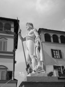 Moncalieri, la fontana del Saturnio