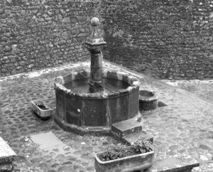 La fontana in pietra