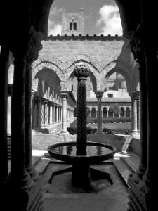 La fontana all'interno cattedrale di Monreale