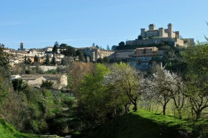 la primavera arriva a Spoleto
