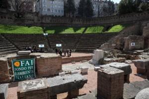 Le gradinate del teatro augusteo a Trieste