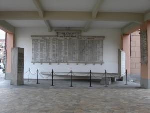 Boves, lapide ai caduti e dispersi durante la seconda guerra mondiale