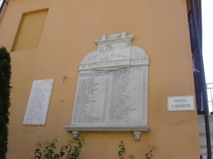 Lapide ai caduti di Fontane di Frabosa soprana