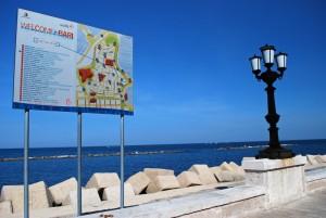 Benvenuti a Bari dal Lungomare Imperatore Augusto