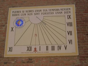 Meridiana della chiesa