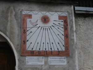 meridiana di Balboutet, frazione di Usseaux, Val Chisone
