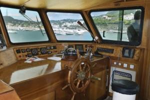 La barca di legno di rosa