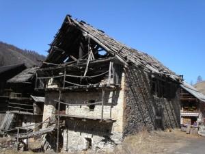 casa in borgata Rhuilles, comune di Cesana