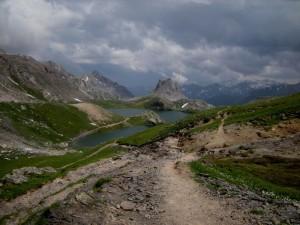 il Lago Superiore di Roburent, dal sentiero che arriva dal Col de Larche