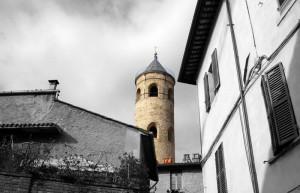 Città di Castello e il campanile cilindrico