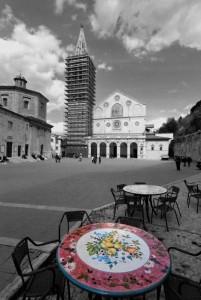 un dipinto di fiori per il Duomo di Spoleto