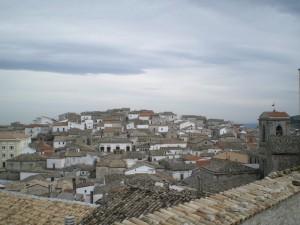 I tetti di Bovino dal castello.
