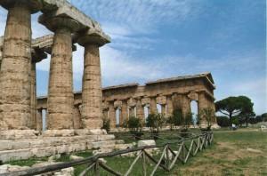 Vista sul tempio di Nettuno e di Hera o Basilica