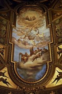 Santuario della Beata Vergine del Rosario - affreschi della navata centrale