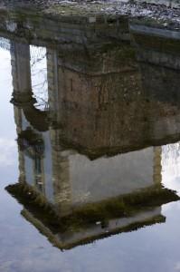 Particolare di Villa Gromo sul Naviglio