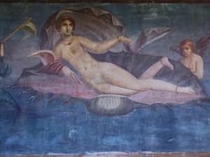 Venere marina su una conchiglia
