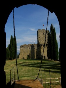 una torre del Castello di Romena