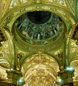 Santuario della Beata Vergine del Rosario - Cupola, affreschi
