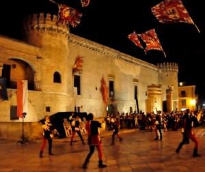 Castello ducale di Torremaggiore (FG) con sbandieratori