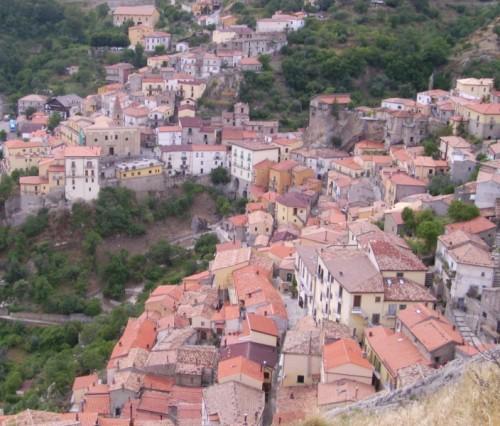 Castelmezzano - Panorama di Castelmezzano (PZ) dai resti del Castello Normanno