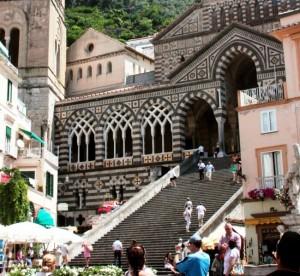 scalinata del duomo di Amalfi