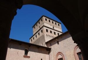Castello di Torrechiara la torre in cornice
