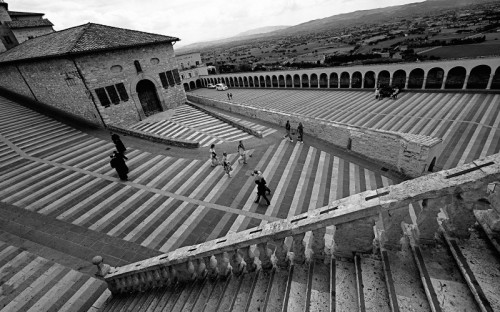 Assisi - Geometrie (Verso la basilica)