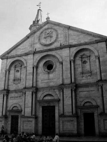 Pienza - Duomo di Pienza in B&W
