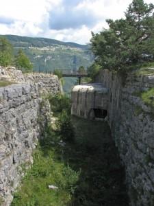 Trincea sul Forte Belvedere