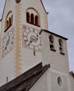 il campanile a vela della Parrocchia di Valdaora di sotto