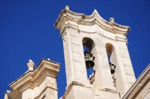 il campanile a vela della Chiesa del Purgatorio