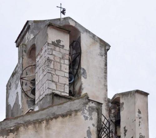 Rignano Garganico - 3 campanili a vela ortogonali tra loro per la Chiesa Madre di Rignano Garg.