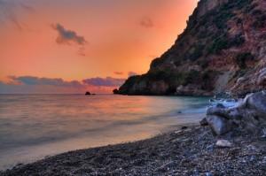 Grotte di Rizzo al tramonto