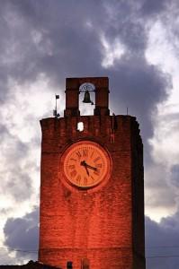 La torre dell'orologio di Cascina