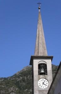 orologio del campanile della parrocchiale di Scopa, Val Sesia